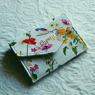 チェスティ(Chesty)のChesty の花柄マルチミニ財布(財布)