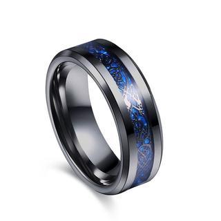 Varanda ドラゴンデザイン指輪 リング メンズ チタンリング 23(リング(指輪))