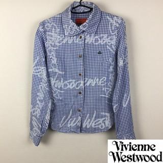 ヴィヴィアンウエストウッド(Vivienne Westwood)の美品 ヴィヴィアンウエストウッドレッドレーベル 長袖シャツ ブルー サイズ1(シャツ/ブラウス(長袖/七分))