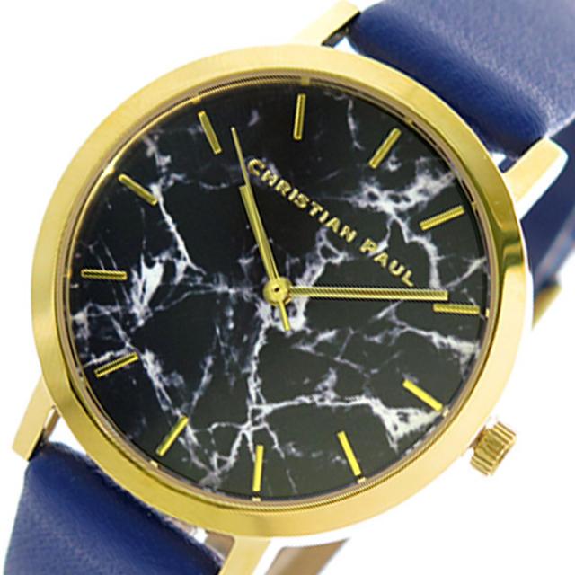 オメガ 時計 販売店 大阪 - クリスチャンポール  レディース 腕時計 ブラックマーブル ブラックの通販 by ちゅなSHOP|ラクマ