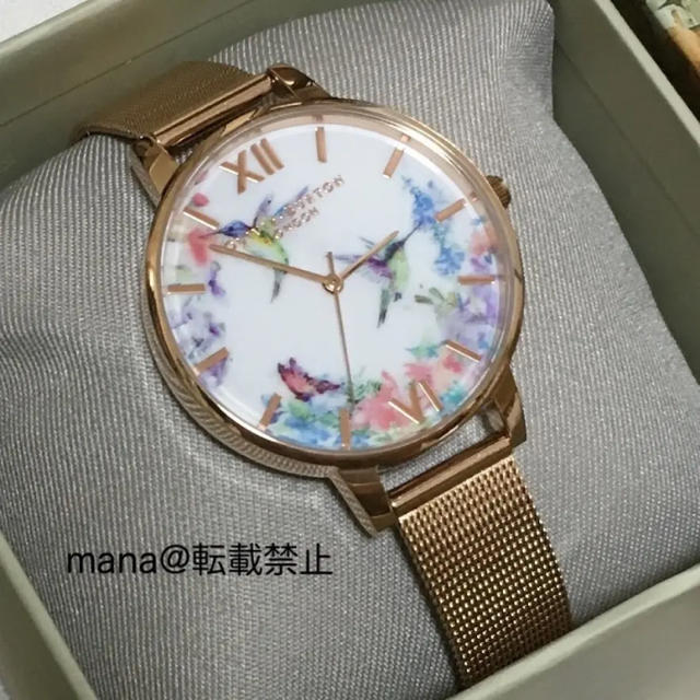 Blancpain メンズ時計 / オリビアバートン 腕時計 OLIVIA BURTON メッシュベルトの通販 by mana's shop|ラクマ