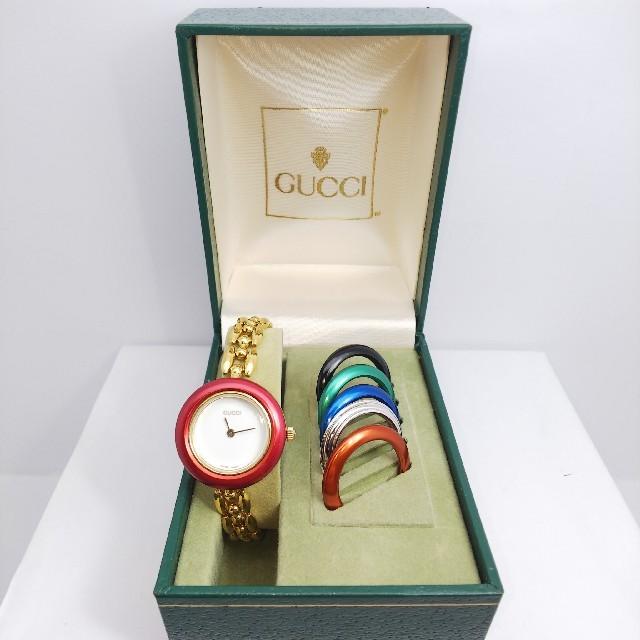 Gucci - GUCCI 腕時計 チェンジベゼル 稼働中 6リング t102の通販 by ティファ's shop|グッチならラクマ