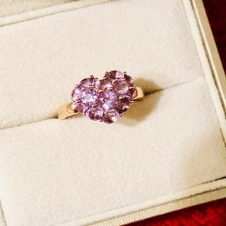 ポンテヴェキオ(PonteVecchio)の超美品★ポンテヴェキオ ★アメジスト★ハート★リング★指輪★紫水晶★紫★パープル(リング(指輪))