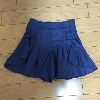 イマージュ(IMAGE)のIMAGE キュロット スカート パンツ 58 ブルー 青 ネイビー イマージュ(キュロット)