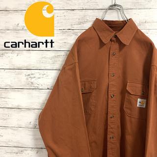 カーハート(carhartt)の人気 古着 90s カーハート 長袖 シャツ ワークシャツ 刺繍ロゴ メキシコ製(シャツ)