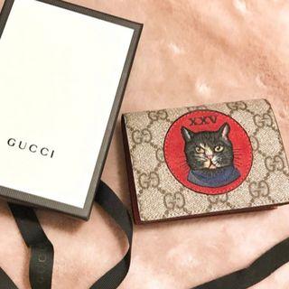 on sale d887e 285d1 GUCCI 二つ折り財布 ミスティック キャット 猫