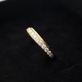 定価約20万 品質保証付き ダイヤモンド K18 ピンクゴールド 7.5号(リング(指輪))