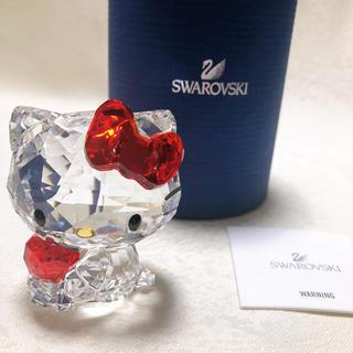 スワロフスキー(SWAROVSKI)のSWAROVSKI スワロフスキー サンリオ キティ アップルフィギュリン 置物(置物)