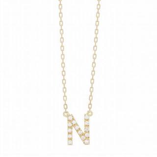 アーカー(AHKAH)のアーカー イニシャルダイヤモンドネックレス K18(ネックレス)