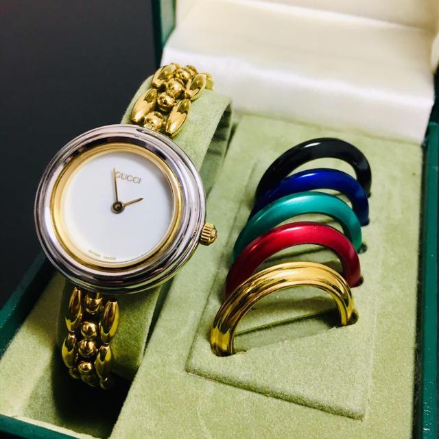Gucci - 【美品 可動品】 グッチ チェンジベゼル 腕時計 レディース 正規品【Ss35】の通販 by 即購入okです^_^|グッチならラクマ