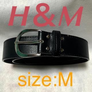 エイチアンドエム(H&M)のH&M 合皮 ベルト ブラック size:M(ベルト)