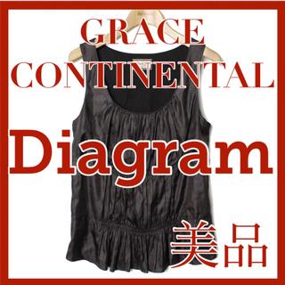 グレースコンチネンタル(GRACE CONTINENTAL)のグレースコンチネンタル ダイアグラム Diagram タンクトップ ブラック(タンクトップ)