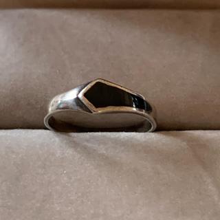 シルバーリング 黒 エナメル(リング(指輪))