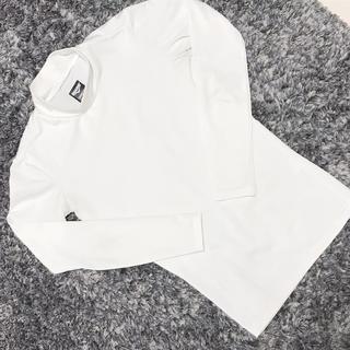 白長袖 アンダーシャツ サッカー130cm(ウェア)