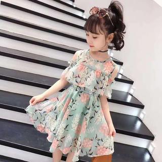 KWBS007可愛い子供、キッズワンピース(120-160) (ワンピース)