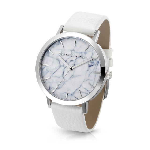 クリスチャンポール メンズ腕時計 シルバー ホワイトの通販 by ジョンソン's shop|ラクマ