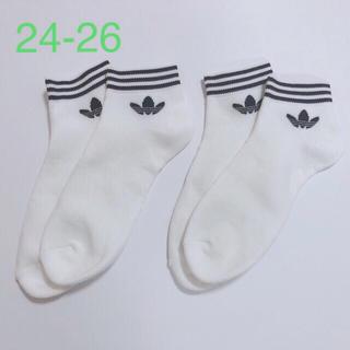 アディダス(adidas)のadidas アディダス ソックス 靴下 白2足セット トレフォイル(ソックス)