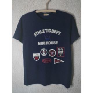 ミキハウス(mikihouse)の4539 美品 ミキハウス 日本製 半袖 刺繍 プリント tシャツ(Tシャツ/カットソー(半袖/袖なし))