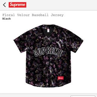 シュプリーム(Supreme)のsupreme Floral Velour Baseball Jersey S(シャツ)