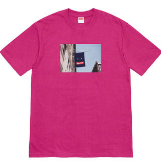 シュプリーム(Supreme)のSupreme Banner Tee magenta L バナー(Tシャツ/カットソー(半袖/袖なし))