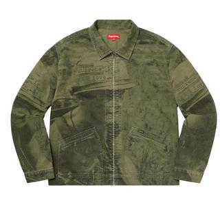 シュプリーム(Supreme)のSupreme is love denim work jacket olive(Gジャン/デニムジャケット)