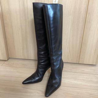 マノロブラニク(MANOLO BLAHNIK)のマノロブラニク ロングブーツ サイズ38.5(ブーツ)