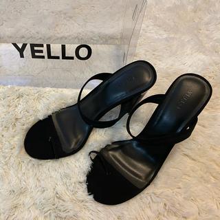 イエローブーツ(Yellow boots)のyello TOKYO BLACK TONGS SANDALS(サンダル)