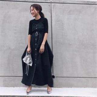 アメリヴィンテージ(Ameri VINTAGE)のAMERI アメリ DENIM UNIFY DRESS(ロングワンピース/マキシワンピース)
