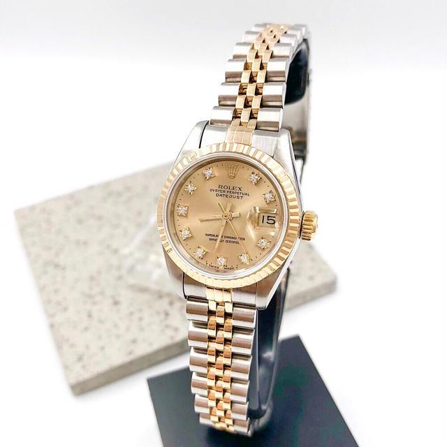ロレックス 時計 ヨットマスター | ROLEX - 【OH済/保証書付】ロレックス 10P ダイヤ コンビ レディース 腕時計の通販 by LMC|ロレックスならラクマ