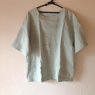 ネストローブ(nest Robe)の未使用  ハンドメイド  リネンブラウス(シャツ/ブラウス(半袖/袖なし))