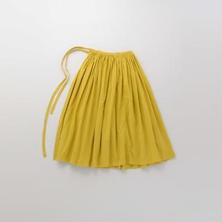 イデー(IDEE)のIDEE POOL 巻きギャザー エプロンスカート(ロングスカート)