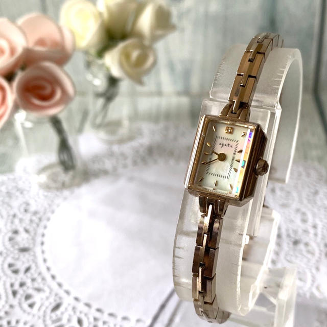 agete - 【電池交換済み】agete アガット 腕時計 0.02ct シャンパンゴールドの通販 by soga's shop|アガットならラクマ