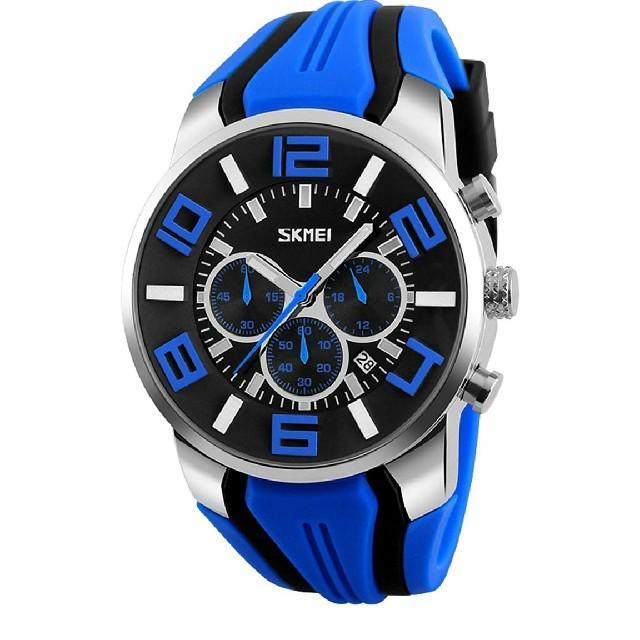 メンズ腕時計 多機能 クォーツ クロノグラフ シリコン 日付 防水  の通販 by ゆうた's shop|ラクマ