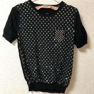 ヌメロヴェントゥーノ(N°21)のN21 半袖 Tシャツ トップス 星 スパンコール(Tシャツ(半袖/袖なし))