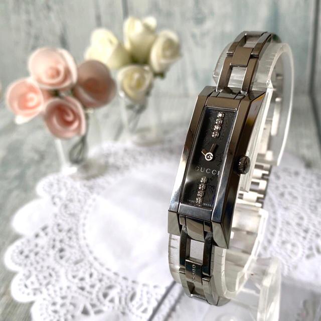 Gucci - 【電池交換済】GUCCI グッチ 110 腕時計 8P ダイヤ 花柄 シルバーの通販 by soga's shop|グッチならラクマ