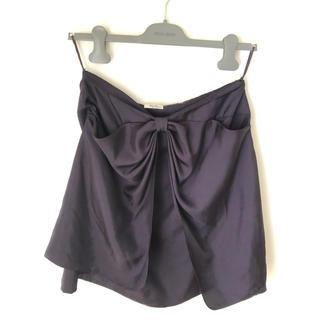 ミュウミュウ(miumiu)の美品 miumiu ミュウミュウ リボンスカート(ひざ丈スカート)
