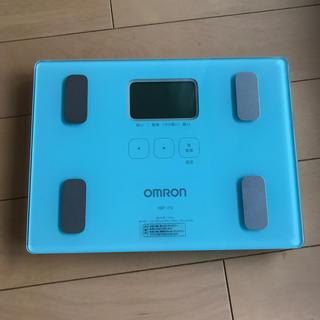 オムロン(OMRON)のぴよさん専用!OMROM 体重体組織計パステルグリーン(体重計/体脂肪計)