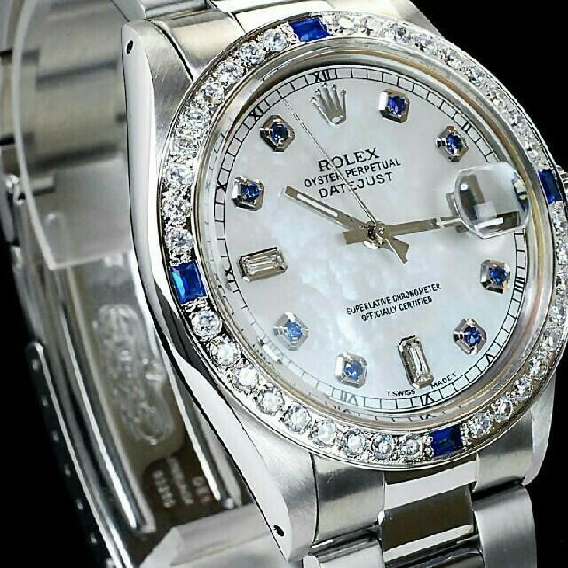 極美品機能8+2Pサファイア/ダイヤ仕上済メンズ自動巻腕時計 の通販 by sfeusf's shop|ラクマ