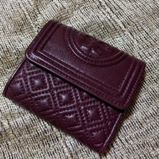 Tory Burch - 送料込み トリーバーチ コンパクト 三つ折り 財布 ボルドーの通販 by さくら餅's shop|トリーバーチならラクマ