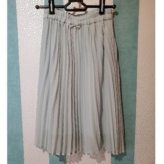 ジーユー(GU)のGU 140 薄グリーン プリーツスカート(スカート)