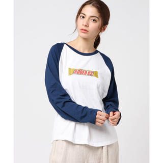 ロデオクラウンズワイドボウル(RODEO CROWNS WIDE BOWL)のほぼ新品 人気完売 YUMMY BAR ラグランロングTシャツ (420(Tシャツ(長袖/七分))