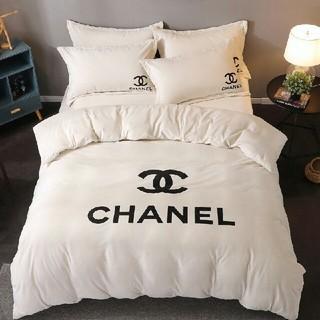 シャネル(CHANEL)の大人気 秋冬 ベッドセット 4点セット シーツ 枕カバー 寝具 布団  白(シーツ/カバー)