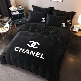 シャネル(CHANEL)の大人気 秋冬 ベッドセット 4点セット シーツ 枕カバー 寝具 布団(シーツ/カバー)