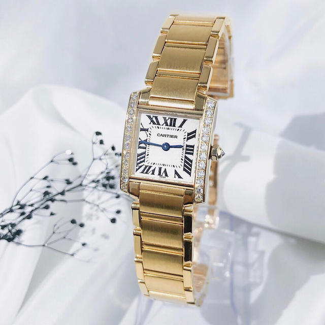 Cartier - 【保証書付/OH済】カルティエ フランセーズ YG ダイヤ レディース 腕時計の通販 by LMC|カルティエならラクマ
