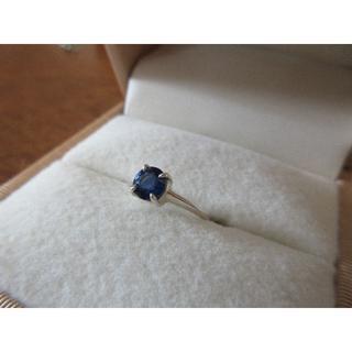 鮮やかな青! カイヤナイト 0.91ct リング シルバー 8号(リング(指輪))