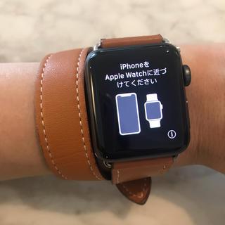 アップルウォッチ(Apple Watch)の【美品】アップルウォッチ Series 2 アルミニウム 38mm バンド付(腕時計(デジタル))