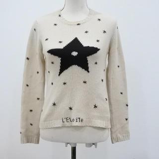 クリスチャンディオール(Christian Dior)のクリスチャンディオールCHRISTIAN DIOR:スター星 ニット セーター (ニット/セーター)