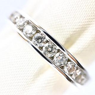K18WG ダイヤ ハーフエタニティ リング(リング(指輪))
