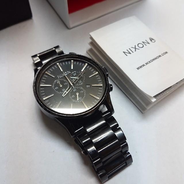 NIXON - NIXON【THE SENTRY CHRONO】ニクソン腕時計★稼働品★送料無料の通販 by エイプス's shop|ニクソンならラクマ