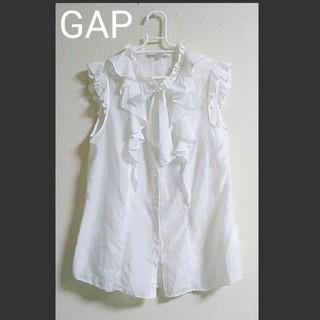 ギャップ(GAP)の【美品】Gap リボンタイブラウス トップス(シャツ/ブラウス(半袖/袖なし))